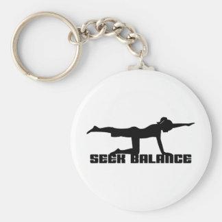 Seek Balance Yoga Keychains