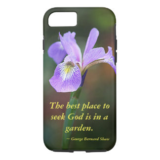 Seek God in a Garden Iris iPhone 7 Case