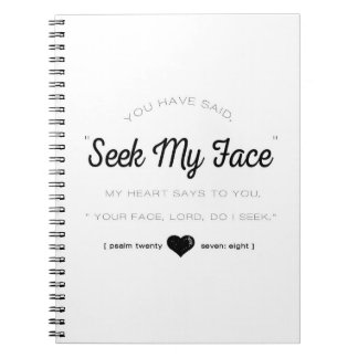 Seek My Face, Psalm Scripture Notebooks