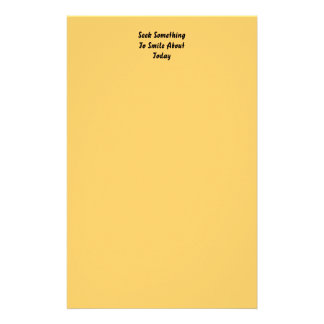Seek Something To Smile About Today. Yellow Customized Stationery