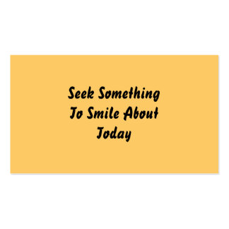 Seek Something To Smile About Today. Yellow Pack Of Standard Business Cards