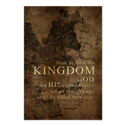 Seek Ye First the Kingdom -Scripture: Matthew 6:33