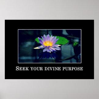 Seek your divine purpose poster