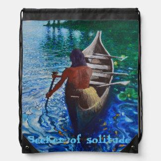 Seeker of solitude - Indian Drawstring bag