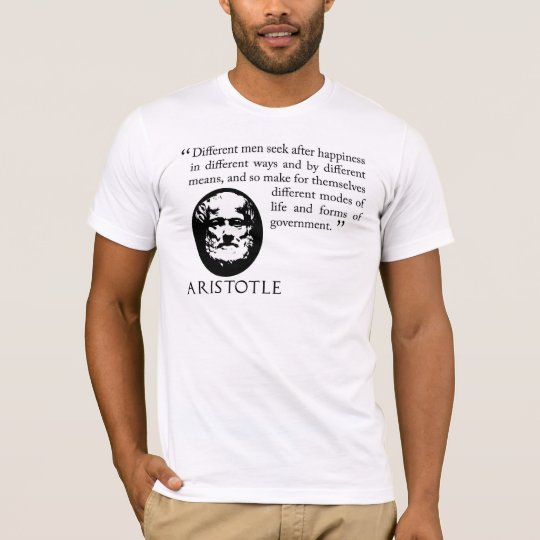 seeking happiness Aristotle Philosophy T Shirt