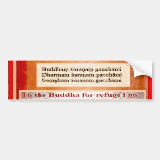 Seeking Refuge in Buddha Bumper Sticker