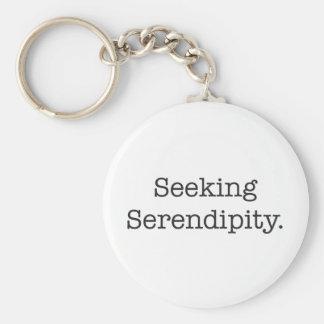 Seeking Serendipity Basic Round Button Key Ring