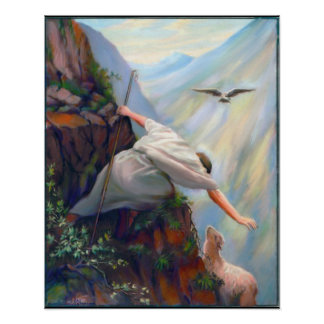 Seeking The Sheep Painting on Canvas Poster