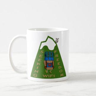 Seeking WiFi Freedom Hiker Design Coffee Mug