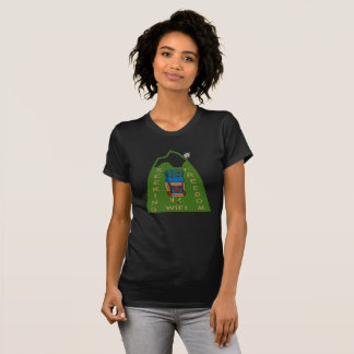 Seeking WiFi Freedom Hiker Design T-Shirt