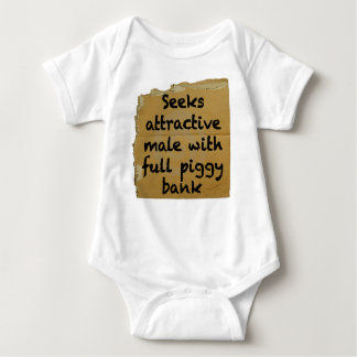 Seeks Male With Full Piggy Bank Baby Bodysuit