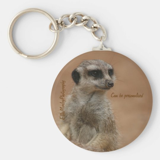 Seemply a meerkat keychain key ring