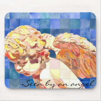 """Seen by an angel"" mousepad"