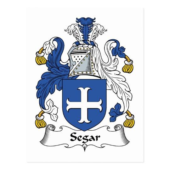 Segar Family Crest Postcard