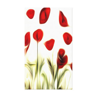 Seghetti Art Abstract Flowers Oil Painting #3 Stretched Canvas Print