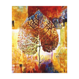 Seghetti Art Abstract Leaf Oil Painting Canvas Print