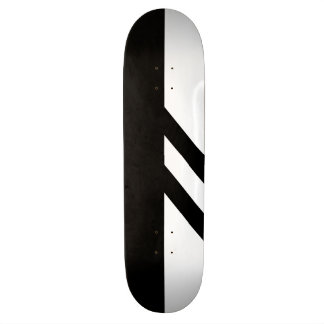 Segmented Black and White Skateboard Deck