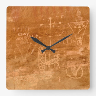 Sego Canyon Petroglyphs - Thompson Springs - Utah Wall Clock