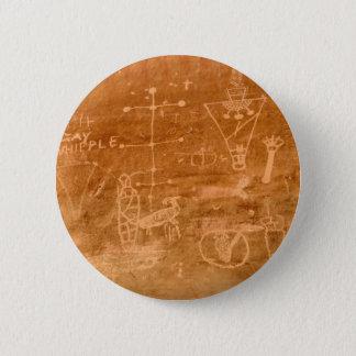 Sego Canyon Petroglyphs, Utah 6 Cm Round Badge