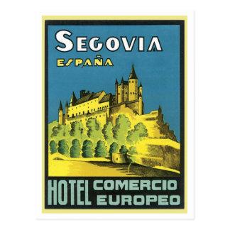 Segovia Espana Hotel Comercio Europeo Postcard
