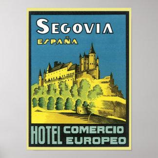 Segovia Espana Hotel Comercio Europeo Poster