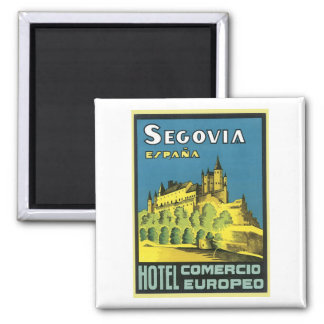 Segovia Espana Hotel Comercio Europeo Square Magnet