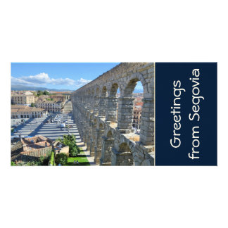 Segovia Spain Custom Photo Card