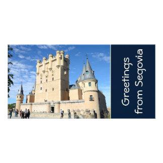 Segovia Spain Customized Photo Card