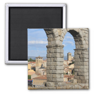 Segovia, Spain is a UNESCO world heritage site Square Magnet