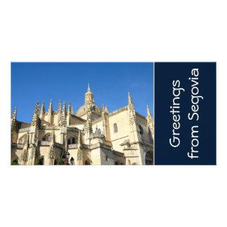 Segovia Spain Personalized Photo Card