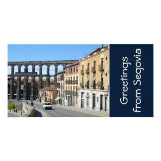 Segovia Spain Photo Card Template