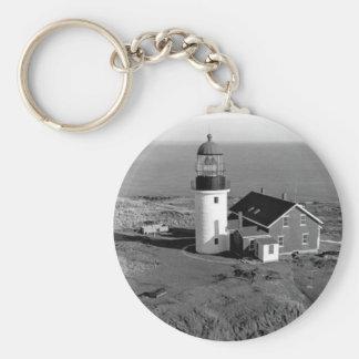 Seguin Lighthouse Basic Round Button Key Ring