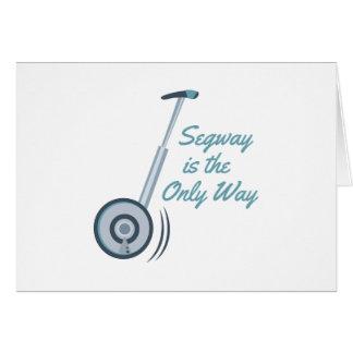 Segway Greeting Card