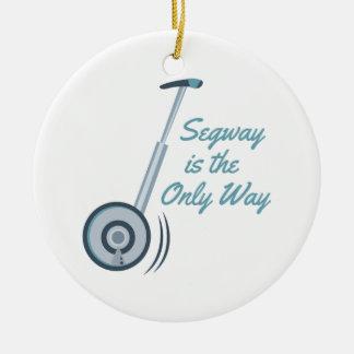 Segway Round Ceramic Decoration