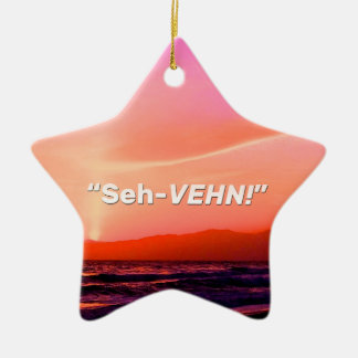 """Seh-VEHN!"" Christmas Ornament"