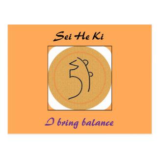 Sei He Ki Reiki Symbol Postcard