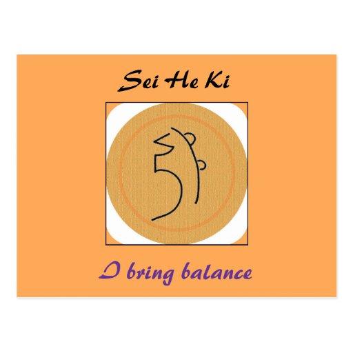 Sei He Ki Reiki Symbol Post Cards