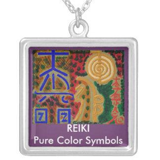 SEI HEI KI - SAYHAYKEY  Reiki Symbol Square Pendant Necklace