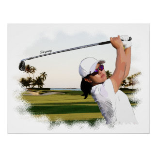 Sei-young - Golf Art On Canvas Print