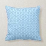 seigaiha(blue01)(square) throw pillow