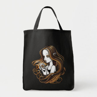 """Seika"" Amber Rose Crystal Ball Angel Canvas Tote"