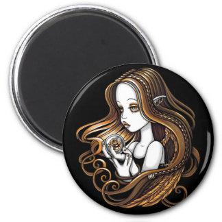 """Seika"" Amber Rose Crystal Ball Angel Magnet"