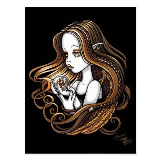 """Seika"" Amber Rose Crystal Ball Angel Postcard"
