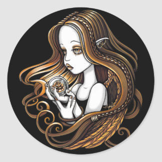 """Seika"" Amber Rose Crystal Ball Angel Stickers"