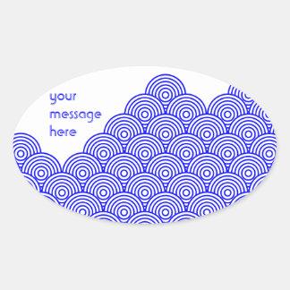 Seikai dissension (blue color) oval sticker