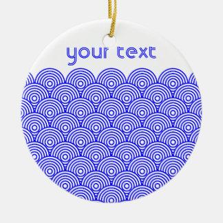 Seikai dissension (blue color) round ceramic decoration