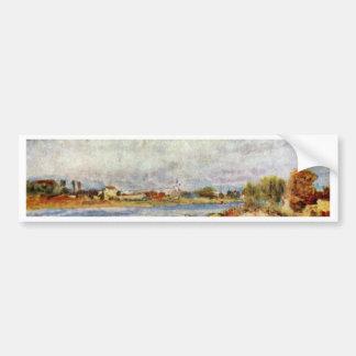 Seine At Argenteuil By Pierre-Auguste Renoir Bumper Sticker