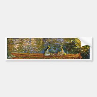 Seine At Asnères (Das Boot) By Pierre-Auguste Bumper Sticker