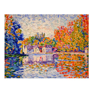 Seine by Paul Signac Postcard