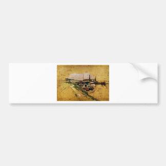 Seine in Bougival by Giovanni Boldini Bumper Sticker